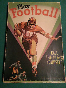 Play Football - Vintage 1934 Game by Whitman Publishing. Rare collectible!