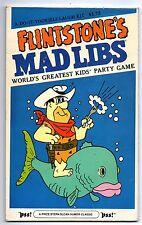 Flintstones Mad Libs Party Game 1980