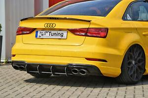 Approccio-posteriore-inserto-posteriore-diffusore-da-ABS-per-Audi-a3-s3-8v-Limousine-Facelift