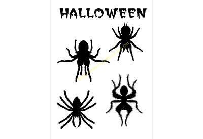 Halloween Stencil Spider Sellection A5/a4/a3/a2/a1/a0 350 Micron Hall021