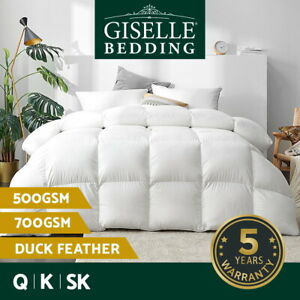 Giselle Duck Down Feather Quilt King Duvet Doona All Season 500/700GSM All Size