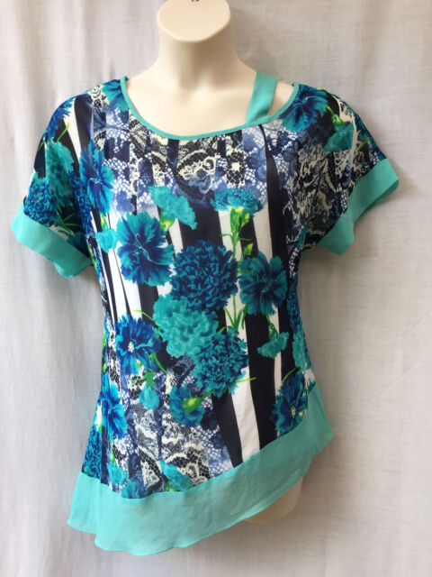 Vivid Size 14 Top Blouse NEW Chiffon Work Casual Evening Occasion Party Travel