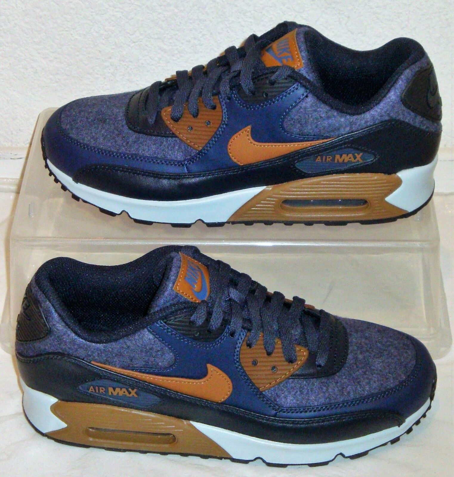 New Nike Air Max 90 Premium Denim Obsidian Mens US Size 8.5