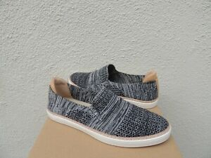 54cfd5bea56 Details about UGG SAMMY BLACK HEATHER STRETCH KNIT/ LEATHER SLIP-ON  SNEAKERS, US 11/ 42 ~NIB