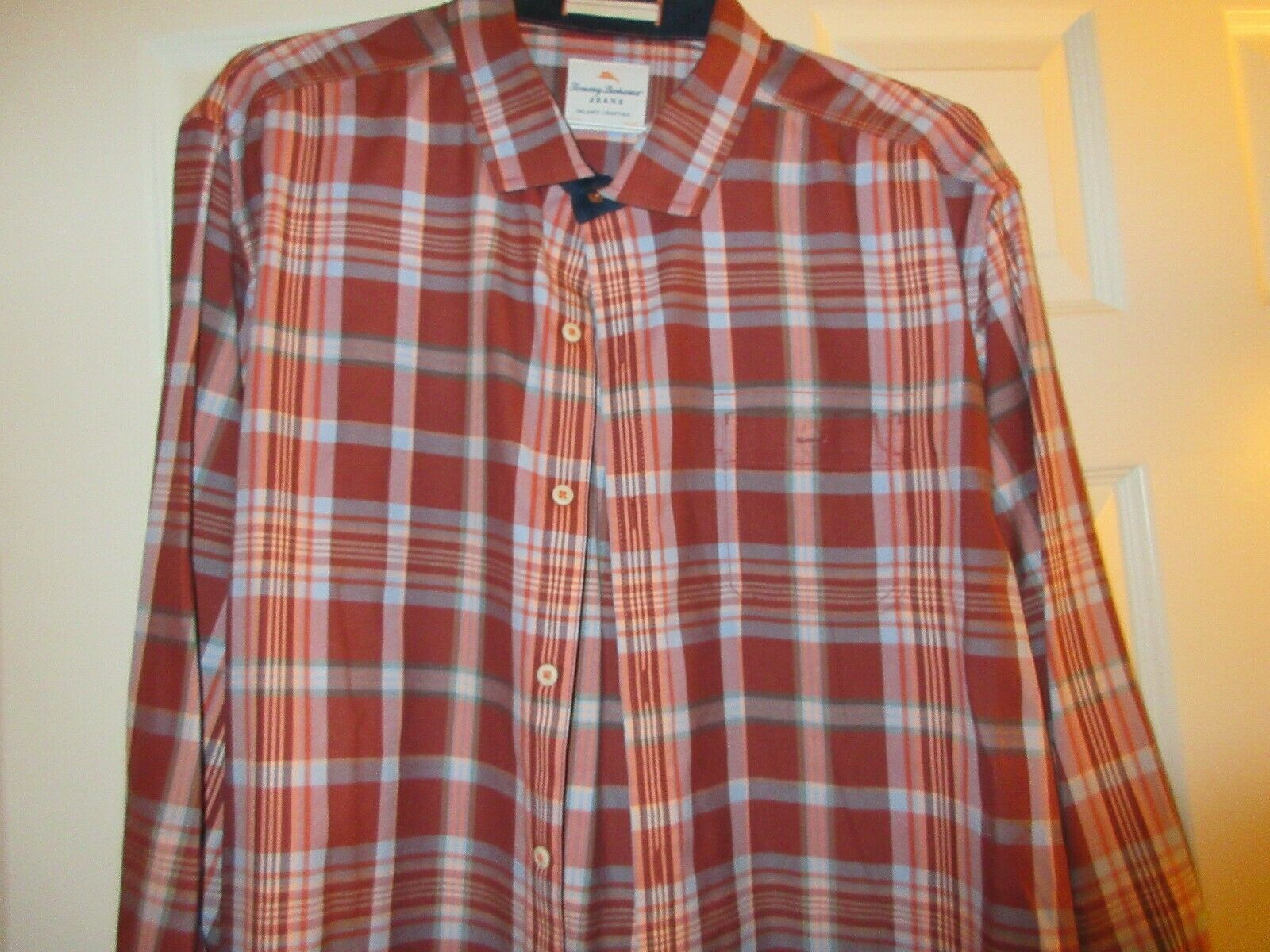 Tommy Bahama Jeans , Men's Long Sleeve , XL/TG , 100% C