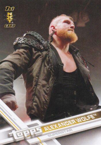 #60 Alexander Wolfe 2017 TOPPS WWE de catch Cox