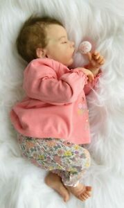 Reborn-Baby-girl-doll-from-Twin-039-B-039-kit-Sculpted-by-Bonnie-Brown-COA