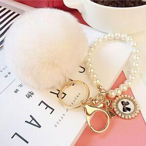 Cute-Ball-Chic-Car-Key-Ring-Pendant-Charm-Pom-Rabbit-Fur-Key-Chain-Handbag