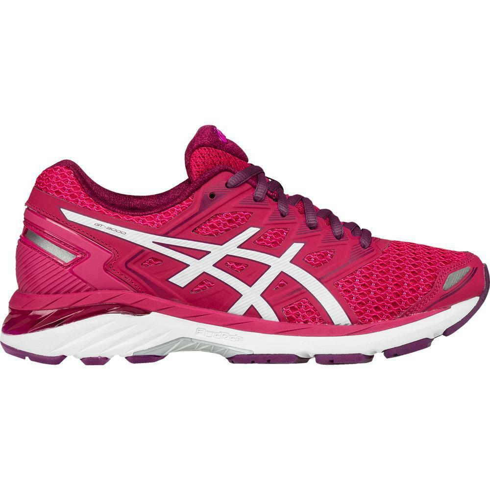 Womens Asics GT-3000 5 Running Shoes Size 5 Bright Rose White Purple T755N 2101