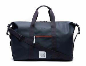 LACOSTE-L-12-12-Concept-Weekender-Reisetasche-Tasche-Peacoat-Henna-Blau-Rot-Neu