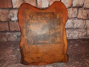 Old-Antique-1916-Maxwell-Auto-Mobile-Classic-Car-Advertising-Wooden-Sign-Plaque
