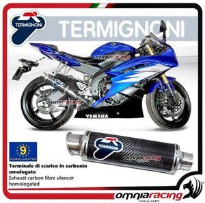Termignoni-ROUND-Tubo-de-Escape-aprobado-para-Yamaha-R6-2006-gt-2016