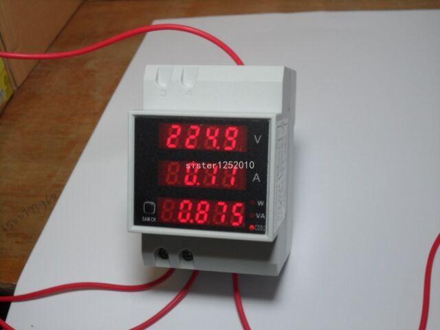 Digital AC200-450V 0-100A 0-45000W LED DISPLAY PANEL VOLT/AMP Meter
