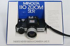 Minolta 110 Zoom SLR Camera with original Box and instructions, etc