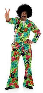 Pantalones Hombre Chaqueta Hippy 60 Disfraz Fiesta 70 Años qn817Enw