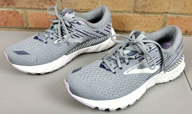 Brooks Adrenaline GTS 19 Guiderails Running Shoes Women's Size 10.5 Gray