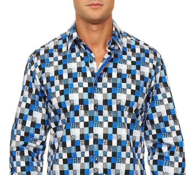 ROBERT GRAHAM Lendor bluee Cotton Classic Fit Button-Down Shirt Men's Sz XL