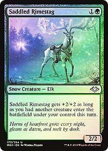 Saddled Rimestag FOIL Modern Horizons PLD Green Uncommon MAGIC CARD ABUGames