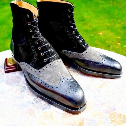 New geniune leather schuhe craft denim Stiefel for Sie