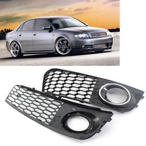 2x-griglia-di-copertura-per-fendinebbia-a-nido-d-039-ape-per-Audi-A4-B8-2009-2011-IT