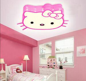 Modern Hello Kitty Style Led Ceiling Light Pendant Lamp 12w Girl S Room Bedroom Ebay