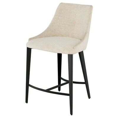 Remarkable 24 W Set Of 2 Ari Counter Stool Beige Boucle Fabric Titanium Steel Legs Modern Ebay Ncnpc Chair Design For Home Ncnpcorg