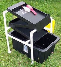 "The Original GOLD BOX Vortex Concentrator 46"" Mat High Banker Sluice Dredge Cube"
