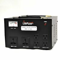 LiteFuze LR-5000 Voltage Regulator Converter Transformer Step Up/Down 5000W