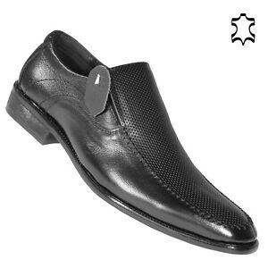 business herren anzug schuhe slipper halbschuhe mokassins bequeme leder l64 gr ebay. Black Bedroom Furniture Sets. Home Design Ideas