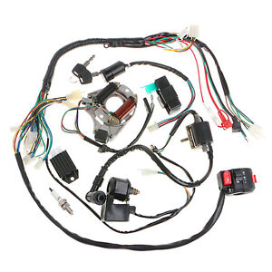 110cc quad wiring harness 50/70/90/110cc cdi wire harness assembly wiring set atv ... taotao 110cc wiring harness diagram