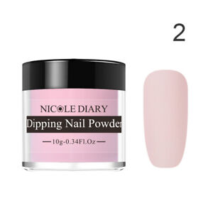 NICOLE-DIARY-10ml-Nail-Dipping-Glitter-Powder-Long-Lasting-Acrylic-Quick-Dip