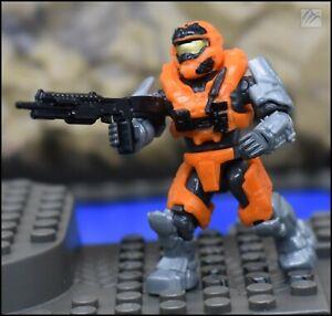 Halo Mega Construx Bloks UNSC Orange Sponge JFO And Commando Spartan zombie pack