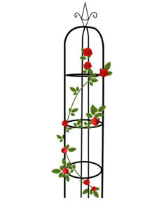 Garden-Plant-Support-Pillar-Trellis-Roses-trellis-Black-15-034-Dia-75-034-high-1-set