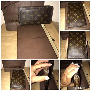 100 Authentic Mini Louis Vuitton Made In France Has No Date >> Details About 100 Authentic Louis Vuitton Zipper Monogram Wallet Made In France