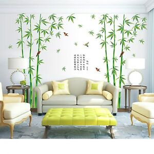 Image Is Loading Wall Vinyl Bamboo Sticker Tree Decals Artificial Forest