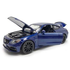 C63S-AMG-1-32-Die-Cast-Modellauto-Spielzeug-Kinder-Sammlung-Blau