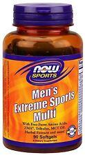Now Foods Men's Extreme Sports Multi 90 Gels Amino Acids ZMA MCT Oil Tribulus