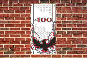 Pontiac Firebird Trans Am 400  Tribute Garage Banner 4 x 2