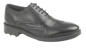 Leather 5 Formal Roamers Eyelet M179 Comfort Shoes Oxford Ted Brogue Black xwvpFwan