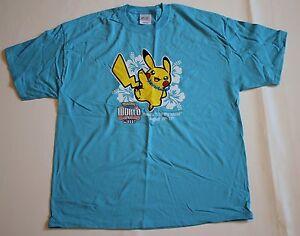 Pokemon-Pikachu-TCG-World-Championships-Competitor-2007-Blue-T-Shirt-Mens-XL-New