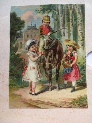 Oblaten & Glanzbilder Wunderschöne Alte Glanz Oblate Kinder Um 1890
