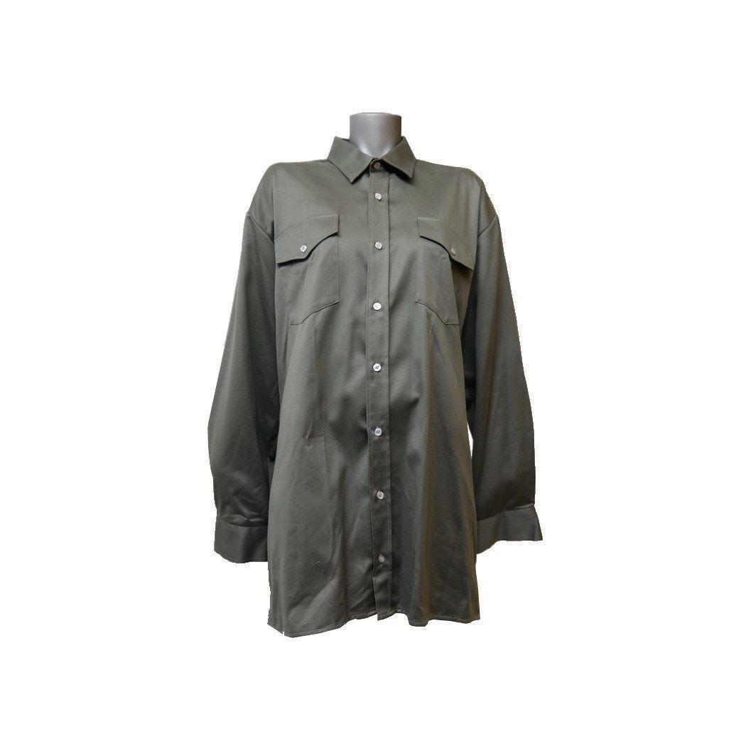 HS-Sport Hemd Größe 43/44 dunkelgrün Satin glänzend Freizeitkleidung 1044