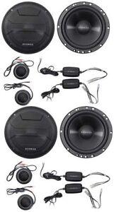 "4) Hifonics ZS65C 6.5"" Zeus Series 400W Component Car Audio Speakers Package"