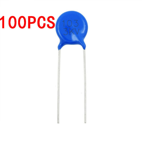 100PCS 3KV 103M High Voltage Ceramic Disc Capacitor 10NF 3000V 20/%