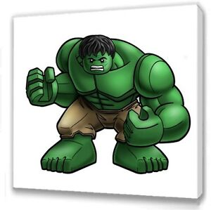 Image Is Loading Lego Avengers Hulk Kids Bedroom Canvas Picture