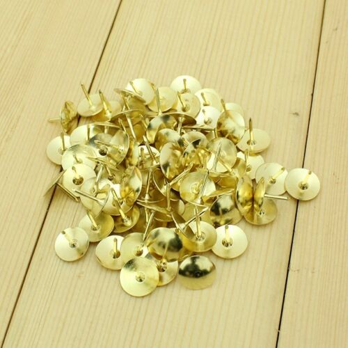 160pcs Modern Gold Metal Decor Thumb Tack Push Pin Message Bulletin Board Holder