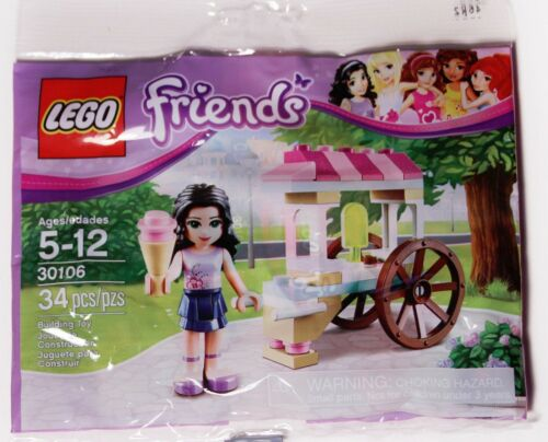 Lego 30106 FRIENDS Emma's Ice Cream Cart Stand Polybag BRAND NEW