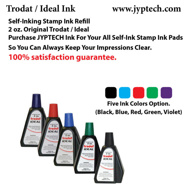 2 Oz Trodat Ideal Rubber Stamp Refill Ink For Stamps Or Pads 5 Color