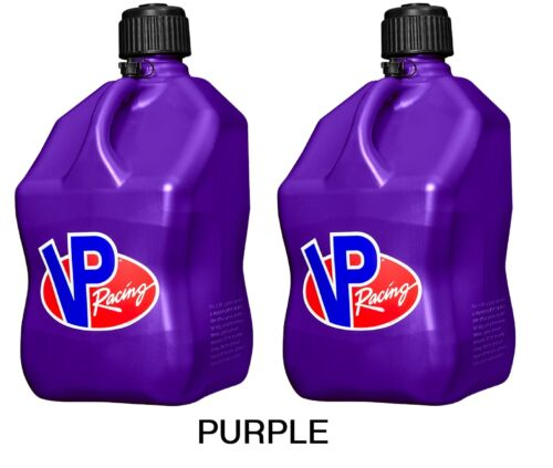 VP Racing Set of 2 Square 5 Gallon Fuel Jugs Specify Color IMCA SCCA Gas Can