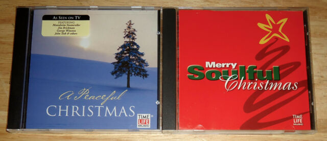TIME LIFE MUSIC 2 Cd A MERRY SOULFUL CHRISTMAS (1999)/PEACEFUL CHRISTMAS